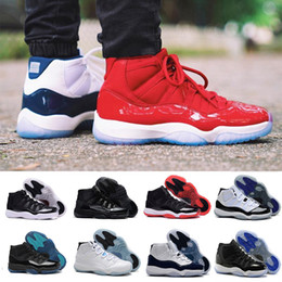 Wholesale Cuttings Box - With box 2018 11 Gym Red Space Jam Chicago Win like 82 11s Men Basketball Shoes Women Athletic Sports Sneakers US 5.5-13