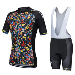 Wholesale Uv Clothing Women - MT&C Cycling Jersey Set Flower Painting Sport Breathable Clothes Quick Dry 9D Gel Pad Bicycle Summer Sportswear Bike Clothes
