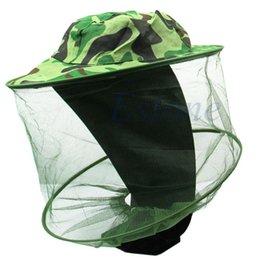 Wholesale Mosquito Cap - Wholesale-V115 Bug Insect Bee Mosquito Resistance Net Mesh Head Face Protector Fish Cap Sun Hat
