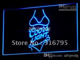 Wholesale Coors Light Neon Beer Signs - a119-b Coors Light Beer Bikini Bar Pub Neon Light Sign