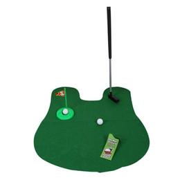 Potty Putter Toilette de Golf Jeu Mini Golf Set Toilette Putting Vert Drôle Nouveauté Jeu Golf Accessoires Euipment Livraison Gratuite ? partir de fabricateur