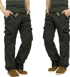 Wholesale Casual Style Work Men - High Quality Casual Cargo Pants for Men Long Trousers Pockets Overall Millitary Style Work Trousers for Men free shipping