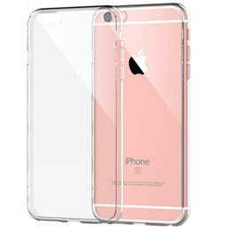 Wholesale Dustproof Plug For Iphone - For Apple iPhone 6 6s Plus Case Slim Crystal Clear Acrylic Hard Back TPU Soft Border Dustproof plug 2 in 1 Protective sleeve cover cases S6