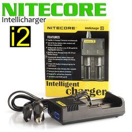 Wholesale universal multi plug - Nitecore I2 Universal Charger fit 18350 18650 14500 26650 E Cigarette mods Battery Multi Function Intellicharger US UK EU AU PLUG