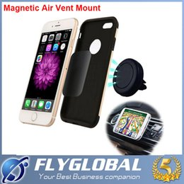 Wholesale Car Cell Phone Price - Cheapest Universal Portable Magnetic Car Air Vent Mount Magnets Bracket Holder for iphone Samsung LG HTC Cell Phone Holders factory price