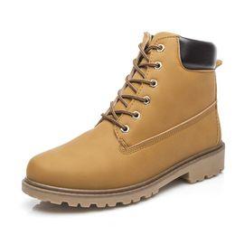 Wholesale Paisley Fabric Brown - Men Shoes Faux Suede Leather Men Boots Spring Autumn And Winter Man Shoes Ankle Boot Men's Snow Shoe Work Plus Size 39-46 vanx