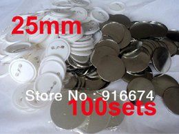 """Wholesale Pinback Button Set - Wholesale-Free shipping Discount 1"""" 25mm 100 Sets Professional Badge Button Maker Pin Back Pinback Button Supply Materials"""