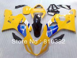 Benutzerdefinierte rennverkleidungen online-2014 Custom-Trimm-Kit für Suzuki GSX-R600 750 04 05 GSXR600 GSXR750 GSX-R600 750 K4 2004 2005 gelbe Racing Verkleidungen SW44