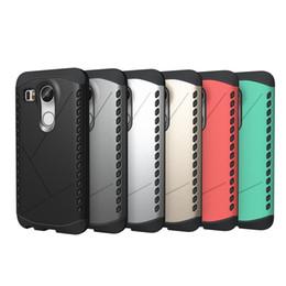 Caso protector nexus online-Para LG Nexus 5X 2 en 1 TPU + PC Caja protectora de Heavy Shield Para el caso Nexus 5X Piel protectora Doble color A prueba de golpes