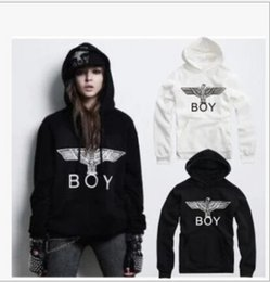 Wholesale White Boy London Sweatshirt - Free shipping hot sale hoodies eagle printed hiphop hoodie BOY LONDON Hoodies Sweatshirts cheap BOY eagle hoodies 9 colors