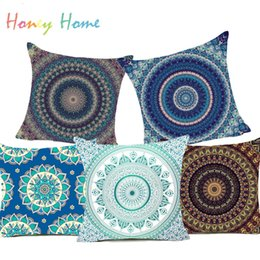 Canada Hippie Mandala Polyester Housse De Coussin Bohemian Indian Style Géométrique Taie D'oreiller Décoratif Pour La Maison Coussins Pour Canapé Voiture Taie D'oreiller Offre