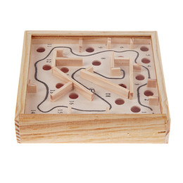 board intelligence Promo Codes - Creative Wooden Math Block Toy Baby Children Maze Beads Board Intellectual Development Kids Balance Hands Grasp Intelligence Toy