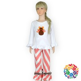 Wholesale Wholesale Clothing Turkey - Halloween clothes the latest 2-8T Girl Cute Turkey Cartoon Blouse and Pants 2 Pieces Suit high quality