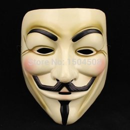 Wholesale V Face - 2015 Hot Selling Party Masks V for Vendetta Mask Anonymous Guy Fawkes Fancy Dress Adult Costume Accessory Party Cosplay Masks