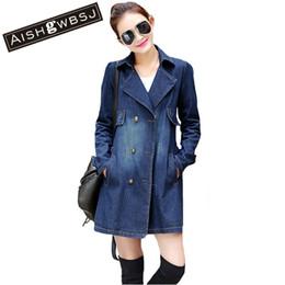 Wholesale Women Coats Fat - Wholesale- 2017 New Women Denim Jacket Loose Casual Jean Jackets Fat MM Female Plus Size S-3XL Jacket Fashion Girls Solid Coat QYX143