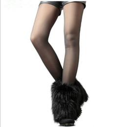 lemfo bluetooth smartwatch Rebajas Precio de la fiesta de Navidad 2015 nuevas mujeres mullidas de piel falsa manera de baile de la pierna calcetines de baile muffs cubierta de bota 20 cm