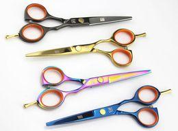 "Wholesale Hairdressing Scissors Wholesale - Kasho Series Offset 5.5"" professional hair scissors hairdressing hair cutting scissors  Thinning scissors, black gold blue purple"