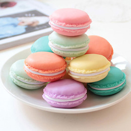 Wholesale Cute Casing - Cute Candy Color Macaron Mini Cosmetic Jewelry Storage Box Jewelry Box Case Birthday Gift Display Macaron jewelry case(050010)