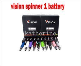 Wholesale E Cigarette Atomizer Ce6 - Ego Vision Spinner Battery 650mah 900mah 1100mah 1300mah for E Cigarette E-cig Kit Various colors for ce4 ce5 ce6 atomizer ego kits
