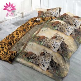 Wholesale Tiger Sheet Set - muchun Brand Cotton Bedding Sets 4 pcs Bedding Comforter Set Duvet Covers 3D Rose&Tiger Printing Bed sheet Wholesale Queen Home Textiles