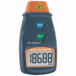Wholesale Tachometer Dt2234c - Wholesale-30pcs lot Digital Speed Measuring tool Laser Tachometer RPM Meter DT2234C Non-Contact Motor Speed Gauge Revolution Spin