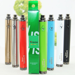Wholesale Rainbow Electronic - Hot 1650mah Vision Spinner II 11 colors Electronic Cigarette Variable Voltage 3.3V-4.8V Vision Spinner 2 Ecig rainbow spinner 2 DHL