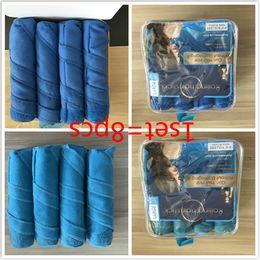 Wholesale Soft Curlers - Sleep Styler Hair Rollers Hairs Curling Curler Air Hair Roller Curlers Soft Foam Bendy Twist Rods DIY Hairs Styling Tool Free Shipping