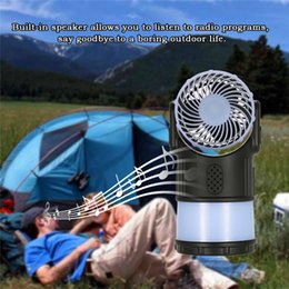 Wholesale Fan For Camping - Novelty Portable Outdoor Camping Lantern Tent Light Lamp Multi-Function with Cooling Fan FM Radio Mosquito Repeller for Hiking Fishing