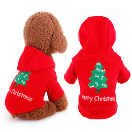 Wholesale Red Dog Christmas Sweater - Pet dog Christmas hooded sweater Dog Street shot sweater out Dog New Year clothes Winter leisurely warm clothes