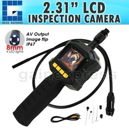 "Wholesale Endoscope Tft - VID-10 Industrial 2.31"" TFT LCD 8mm Camera Video Borescope Endoscope 4 LED Lights AV Output SnakeScope 3FT Cable Surveillance Tool"