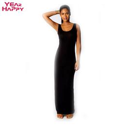 Wholesale Tank Top Evening Dresses - Wholesale-2015 new Women Tank Top ankle-length Dress elegant cotton vest long dress sexy evening party dresses