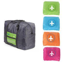 Wholesale Wheeled Bag Foldable - 4Colors Foldable Nylon Suitcase Hand Luggage Cabin Small Wheeled Travel Folding Flight Bag Large Capacity Case Travel Insert Handbag LB3