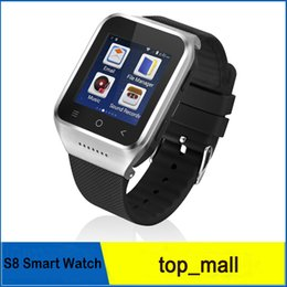 Wholesale Gsm Watch Phone 3g - 3G Android 4.4 Smart Watch Phone Smartwatch GPS Compass MTK6572 Dual Core 1.54'' Screen 512M 4GB Wifi Bluetooth WCDMA GSM 002996