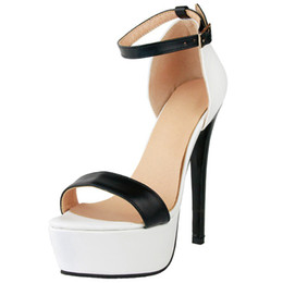Wholesale Two Piece Heels - Kolnoo Womens Handmade Two-piece Open Toe Sandals Barefeet Buckle Strap High Heel Summer Sexy Party Prom Fashion Sandals For BFCM XD511