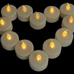 lampe de lune jaune Promotion 100 pcs exploité mariage fête d'anniversaire scintillement scintillement sans flamme LED photophore bougies thé lumière batterie décoration de noël