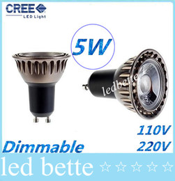 Wholesale B15 Led 12v - High CRI>85 COB 5W Dimmable Led GU10 E27 E26 GU5.3 Lights Spotlight Lamp 60 Angle Warm Cool White MR16 Led Bulbs Light 110-240V 12V