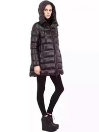 Wholesale Brand Coat Skirt - New Winter M Brand Long Women's Soft Warm down Jacket Thick Duck Down Coat Hooded Parkas Black Color