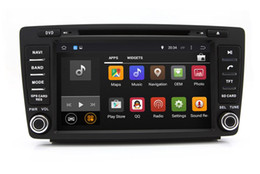 Wholesale Skoda Gps Navigation - Android 4.4 Head Unit Car DVD Player for Skoda Octavia 2005-2008 with GPS Navigation Radio Bluetooth USB SD AUX WiFi 4Core 1024*600