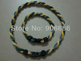 Wholesale Single Rope Titanium Necklaces - Wholesale-US Football & University Team titanium necklace ,sport heath necklace, single rope accept mix order 50pcs lot free shipping