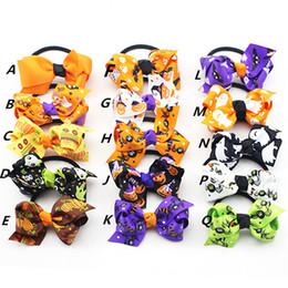 Wholesale Baby Spiders - 15 style baby girl Halloween cute hairbands kids girl pumpkin spider witch's hat pattern children Hair Accessories headwear 100pcs