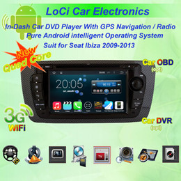 Wholesale Dvd Autoradio Android - Car dvd Multimedia radio android player for Seat Ibiza 2009- 2013,autoradio CD, gps navigation,TV, Pure android 4.4.4, Quad Core