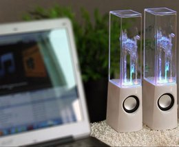 Wholesale Water Drop Speaker - Dancing Water Speaker Music Audio 3.5MM Player for S5 i9600 LED 2 in 1 USB mini Colorful Water-drop Show for tablet phone