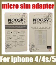 telefone mikro-sim-karten Rabatt noosy sim karte adapter nano sim adapter tray halter sim karte tray für iphone 5 4 s 4 micro sim karte tray für die meisten handy OTH022