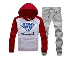 2019 diamants hauts hoodies S-5xl Sweatshirts Diamond supply co à capuche + pantalons hommes automne hiver haute couture marque Hoodies polaire Survêtements diamants hauts hoodies pas cher