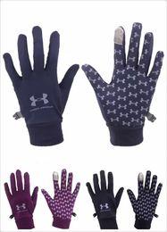 Wholesale Full Finger Armor - Hot Unisex U A Cellphone Touch Screen Gloves Multi Purpose Under Outdoor Sport Armor Warm Full Finger Guantes Gloves Black Blue Purple