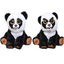 Wholesale Christmas Stuffed Panda Bear - Feisty Pets Plush Toys Kids Christmas Gift Big Eyes Dog Panda Cat Monkey Change Face Stuffed Animals Plush Dolls with Funny Expression