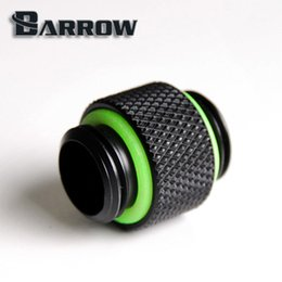 Wholesale Cool Connections - Wholesale- Barrow G1 4 '' Black standard dual external thread connection double male adapter thread connector for water cooling. TB2D-02