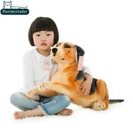 Wholesale Brown Dog Stuffed Animal - Dorimytrader 26''   65cm Funny Soft Plush Lovely Stuffed Big Emulational Animal Dog Toy, Nice Gift For Babies, Free Shipping DY60710