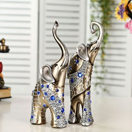 Wholesale Room Suite - Home Decoration High - grade resin craft gift decoration mother and son elephant suite living room elephant European decoration