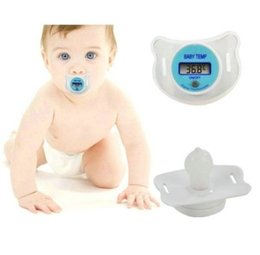 Wholesale Digital Soother - Infant Baby Digital Dummy Pacifier Thermometer Soother Nipple Safe New Brand New Good Quality Free Shipping